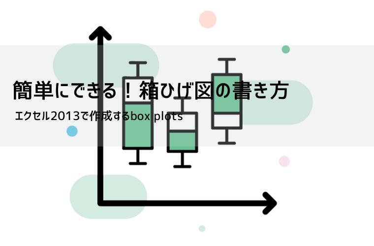 箱ひげ図(box plots)のアイキャッチ