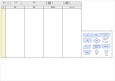 業務フロー図のエクセルテンプレート