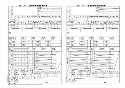 源泉徴収票テンプレート2