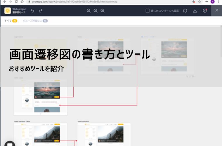 画面遷移図の書き方とツール