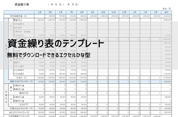 資金繰り表のテンプレート アイキャッチ